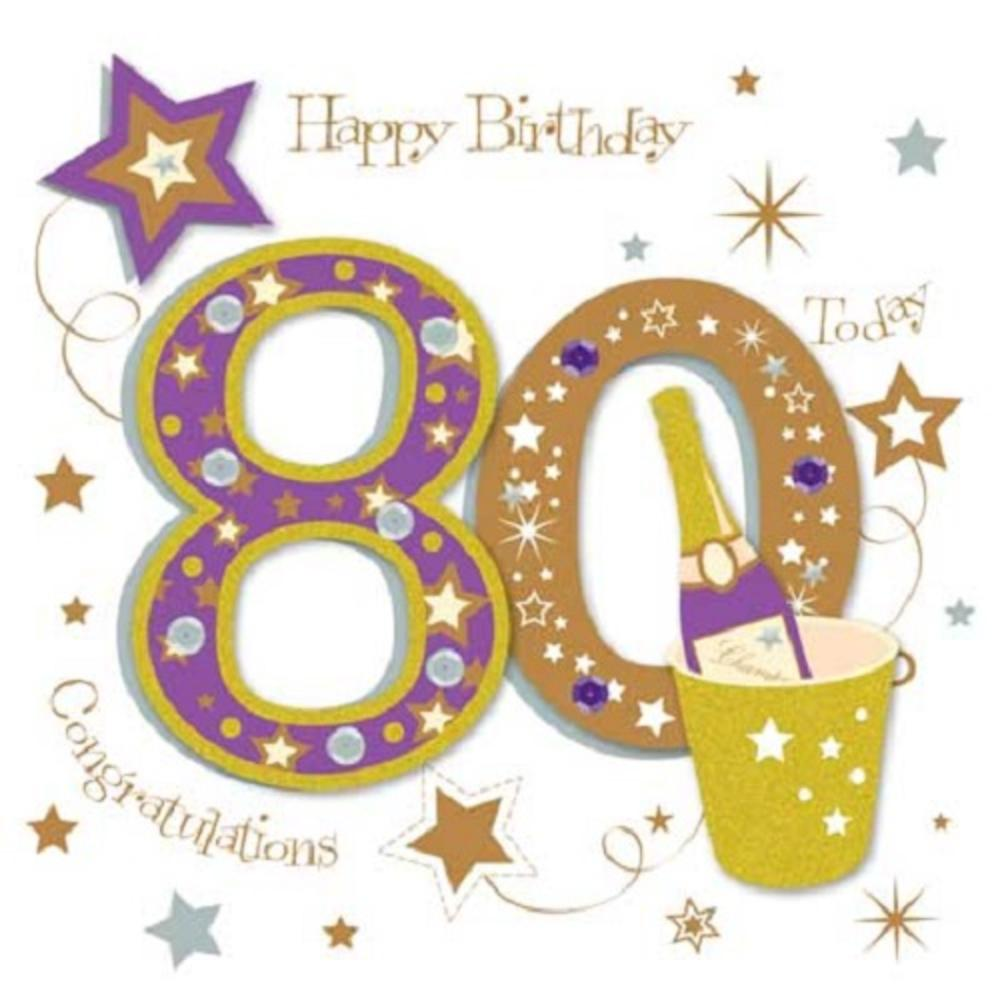 Happy 80th Birthday Greeting Card By Talking Pictures