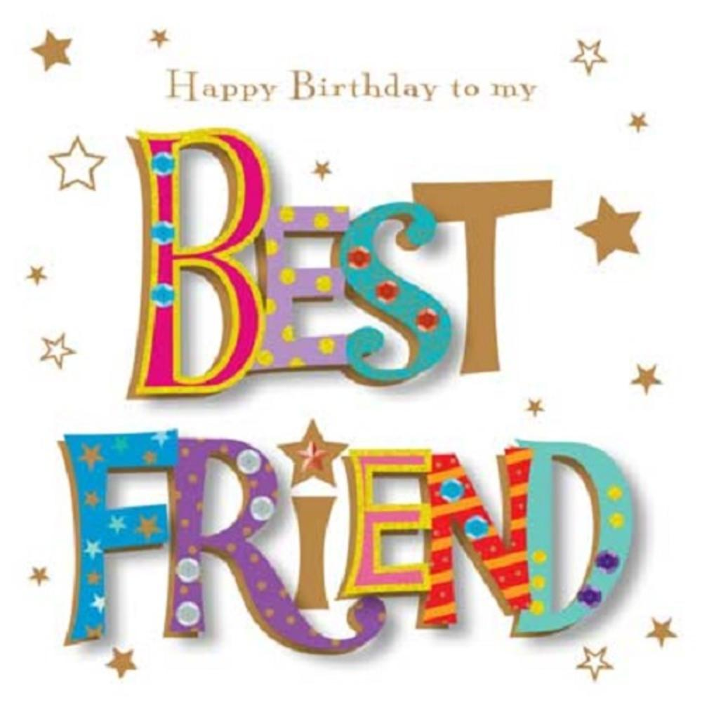 Happy Birthday To My Best Friend Greeting Card By Talking Pictures Thumbnail 1