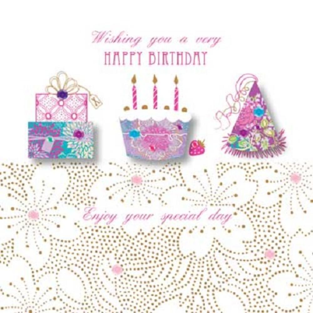 Handmade Very Happy Birthday Greeting Card By Talking Pictures