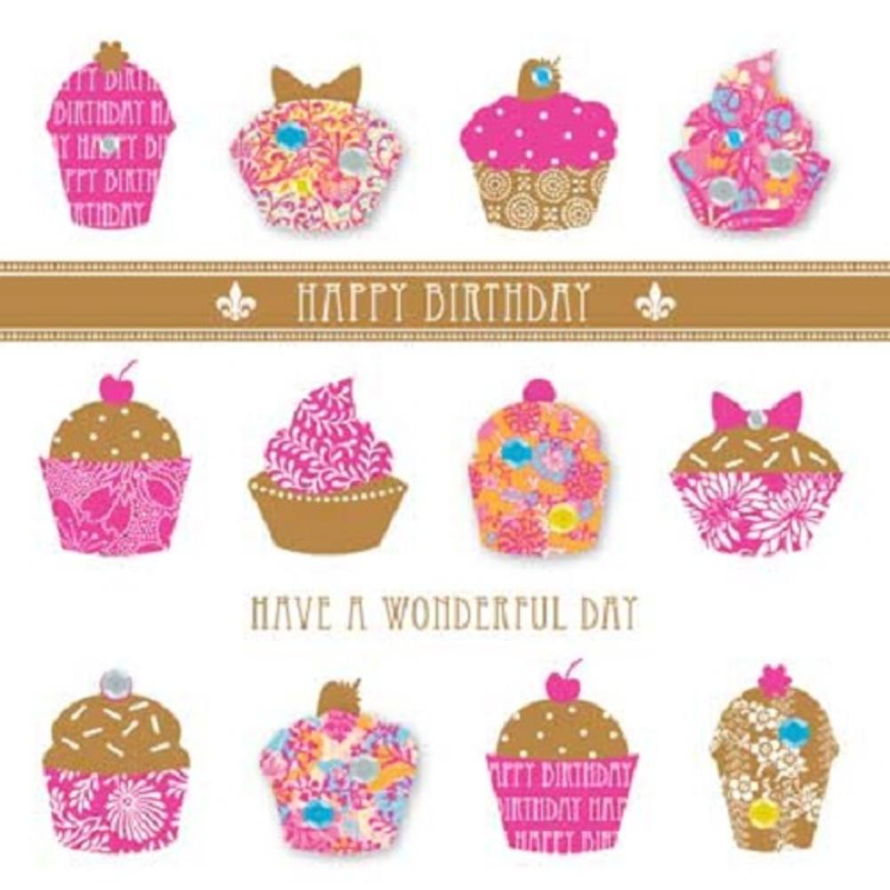 Handmade Cupcakes Birthday Greeting Card By Talking Pictures