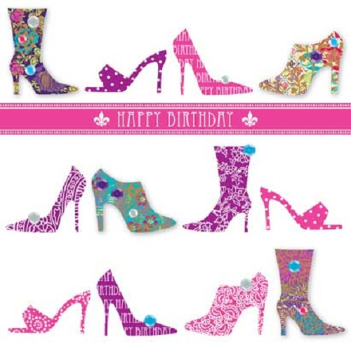 Handmade Shoes Happy Birthday Greeting Card By Talking Pictures