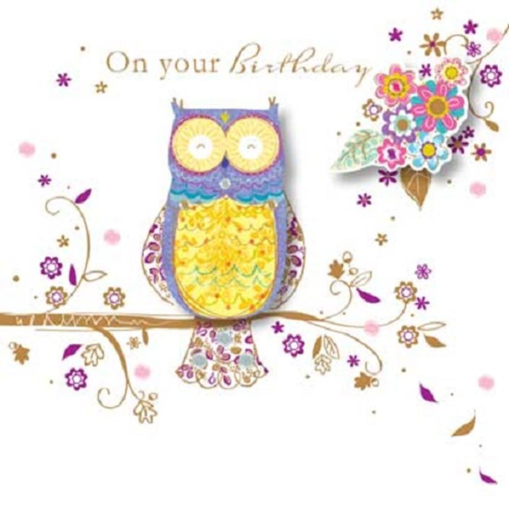 Handmade Owl Happy Birthday Greeting Card By Talking Pictures – Talking Happy Birthday Cards
