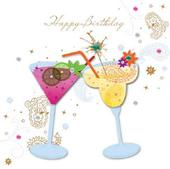 Handmade Cocktails Happy Birthday Greeting Card By Talking Pictures