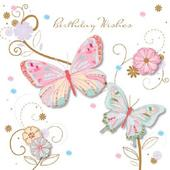 Handmade Butterflies Birthday Greeting Card By Talking Pictures