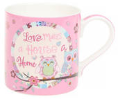 Love Makes A House A Home Fine China Mug in Gift Box