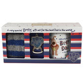 Boofle Best Dad Mug Socks & Keyring in a Gift Box
