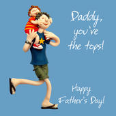 Daddy You're The Tops Father's Day Card One Lump or Two