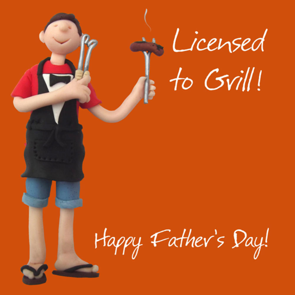 Licensed To Grill Happy Father's Day Card One Lump or Two