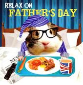 Breakfast In Bed Relax Father's Day Card
