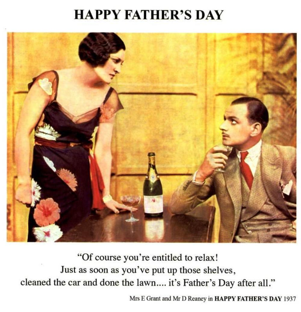 Funny Relax On Father's Day Greeting Card