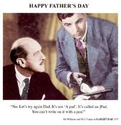 Funny Gadget Dad A Pad Father's Day Greeting Card