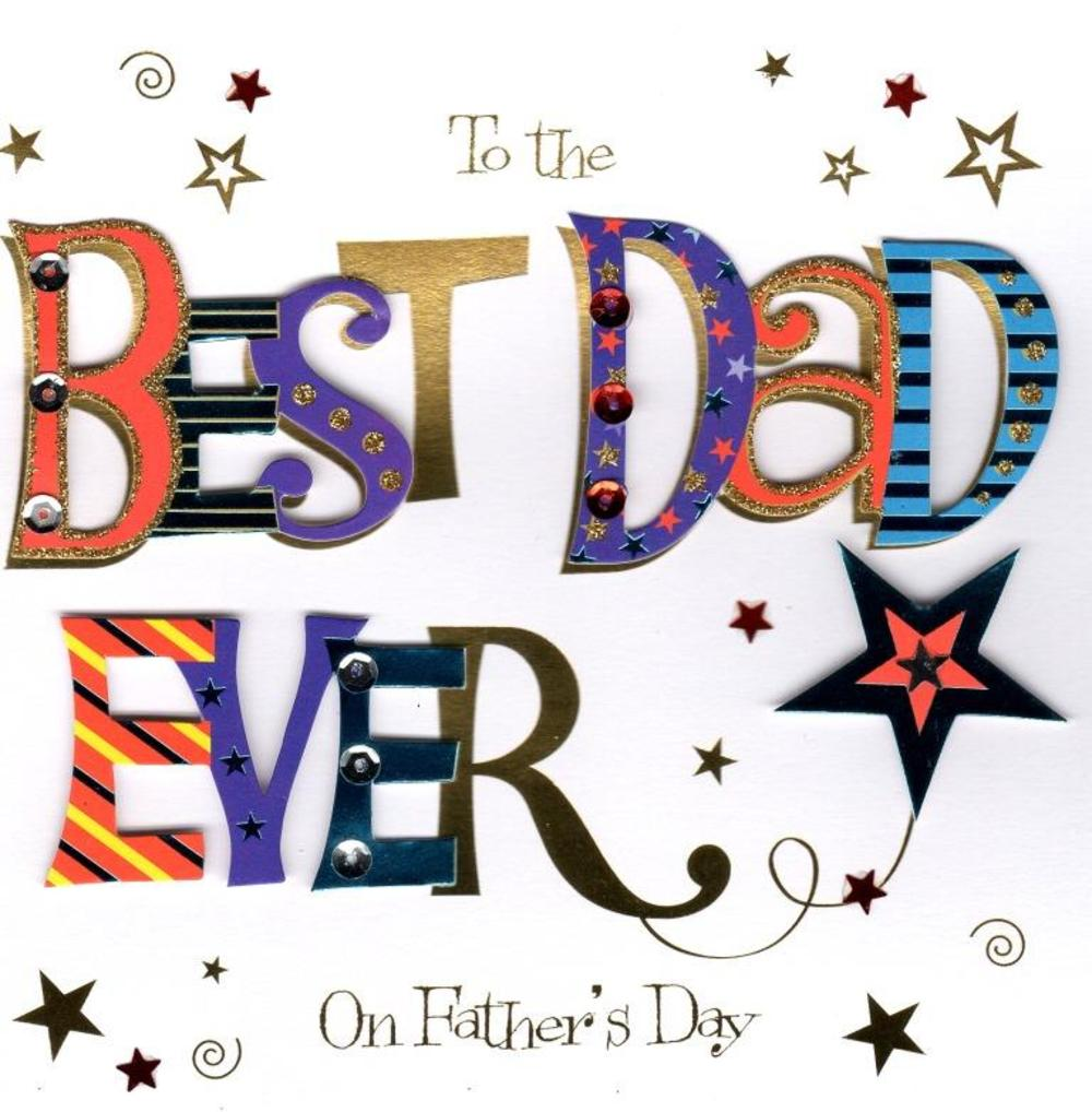 Best Dad Ever Father's Day Greeting Card