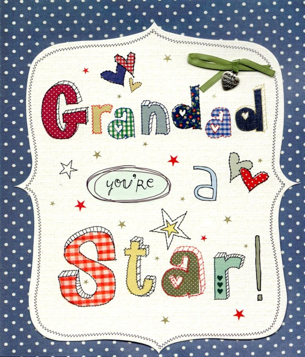 Grandad You're A Star Father's Day Card
