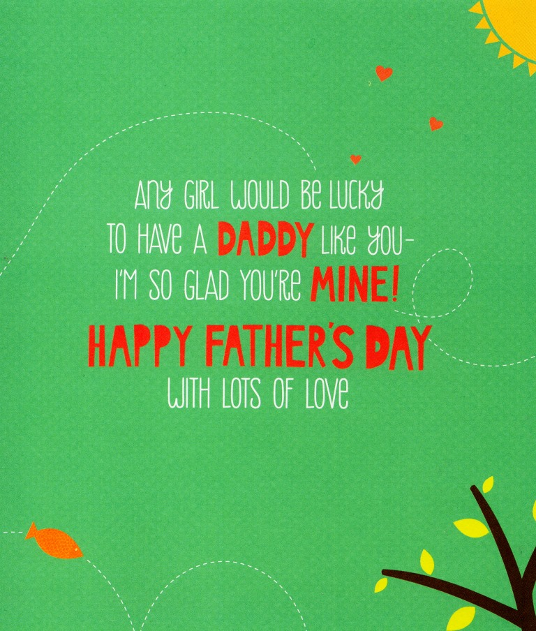 daddy from daughter father s day card cute jolly creatures range