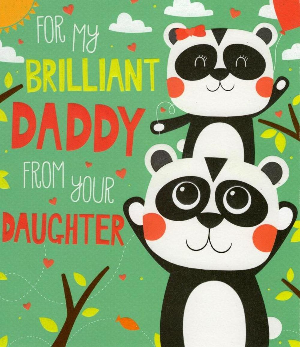 Daddy From Daughter Father's Day Card