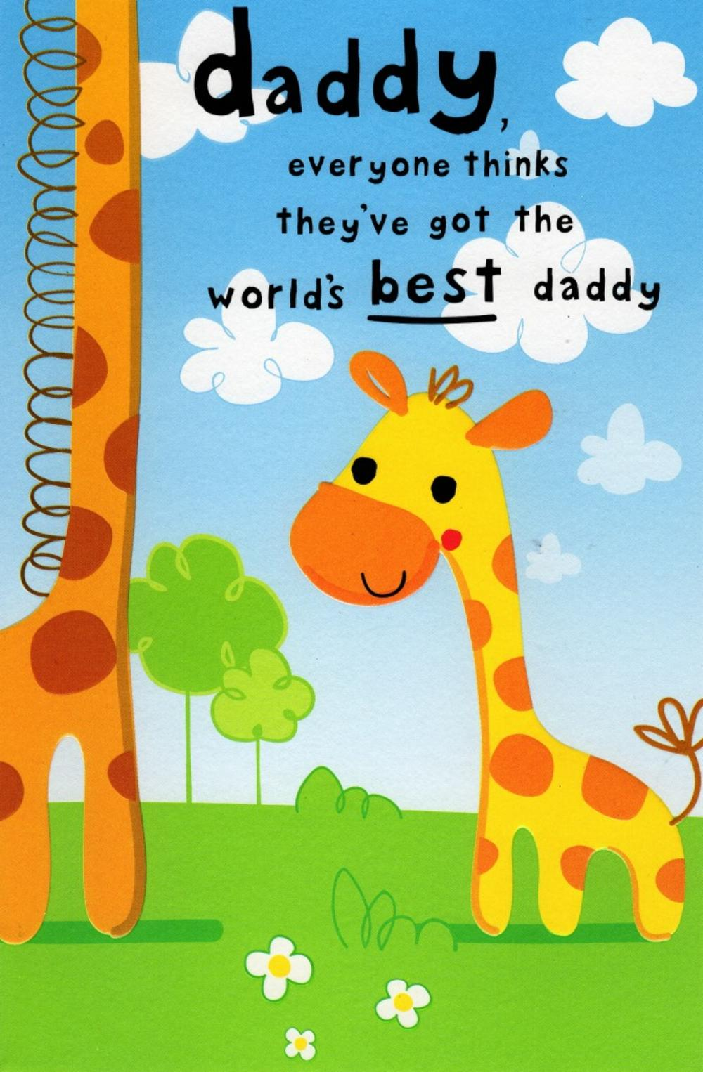 Cute Best Daddy Happy Father's Day Card