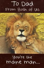 Dad From Both Of Us Happy Father's Day Card