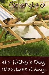 Grandad Relax Happy Father's Day Card