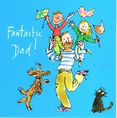 Quentin Blake Fantastic Dad Happy Father's Day Greeting Card