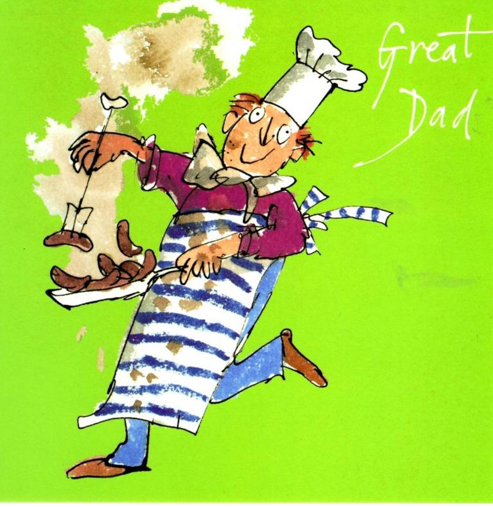 Quentin Blake Great Dad Happy Father's Day Greeting Card