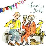 Quentin Blake Cheers Dad Happy Father's Day Greeting Card