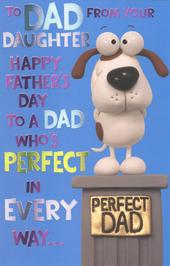 To Dad From Daughter Happy Father's Day Card