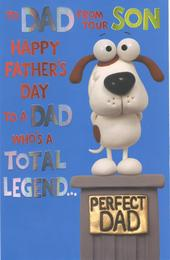 To Dad From Son Happy Father's Day Card