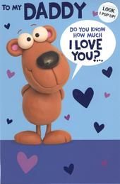 Daddy I Love You Happy Father's Day Card