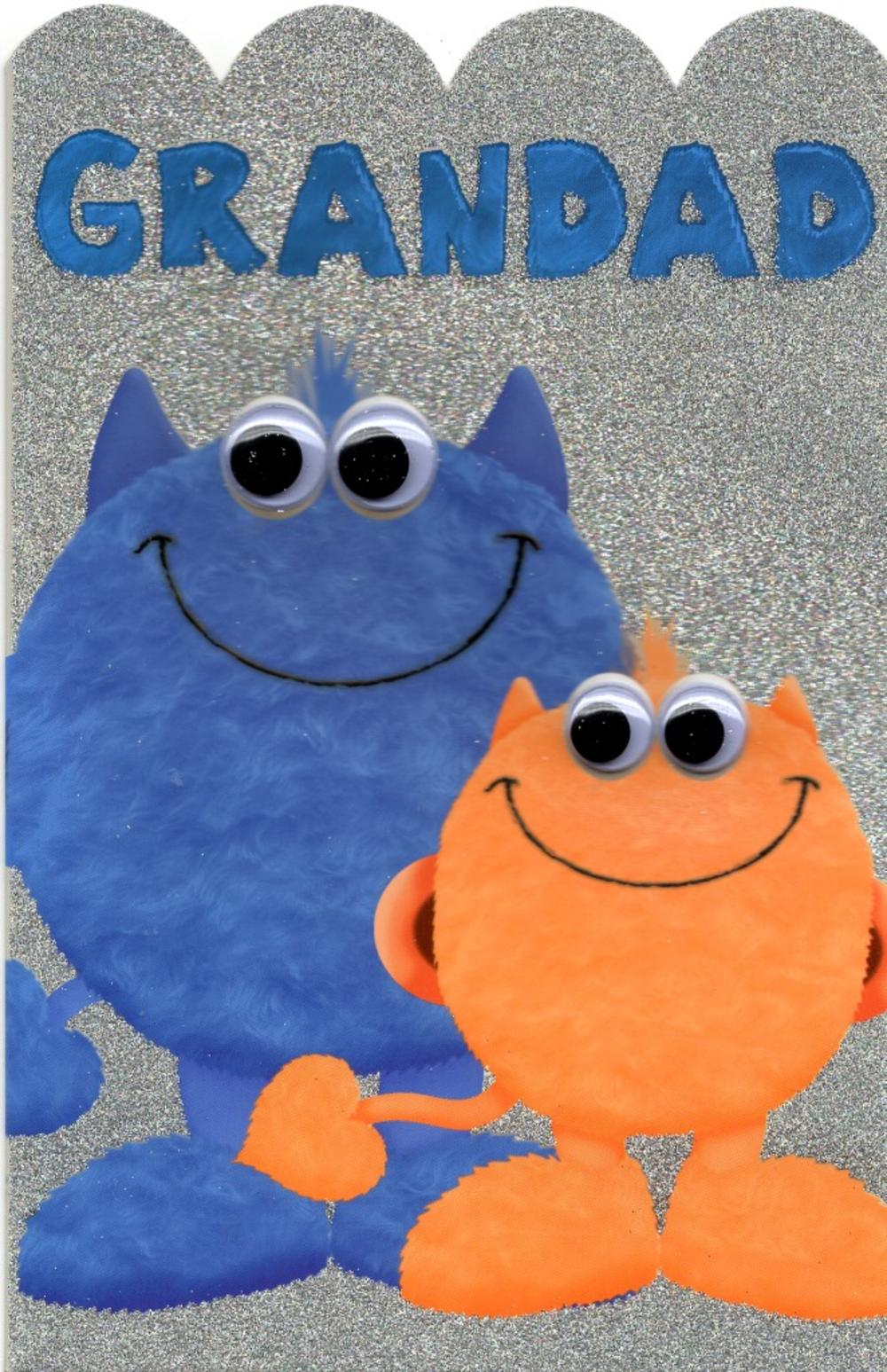 Grandad Cute My Monster Happy Father's Day Card