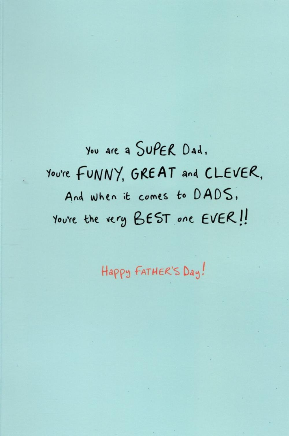 Super Dad Cute My Monster Happy Fathers Day Card Cards Love Kates