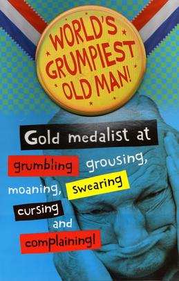 World's Grumpiest Old Man Father's Day Card With Badge