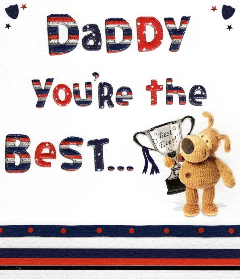 Daddy You're The Best Boofle Happy Father's Day Card