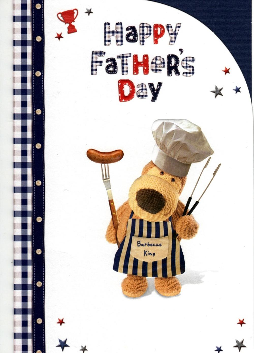 Boofle Barbecue King Happy Father's Day Card