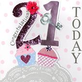 Second Nature 21st Birthday Keepsake Card
