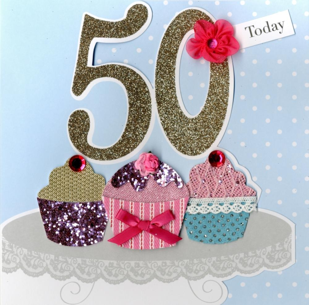 Second Nature 50th Birthday Keepsake Card