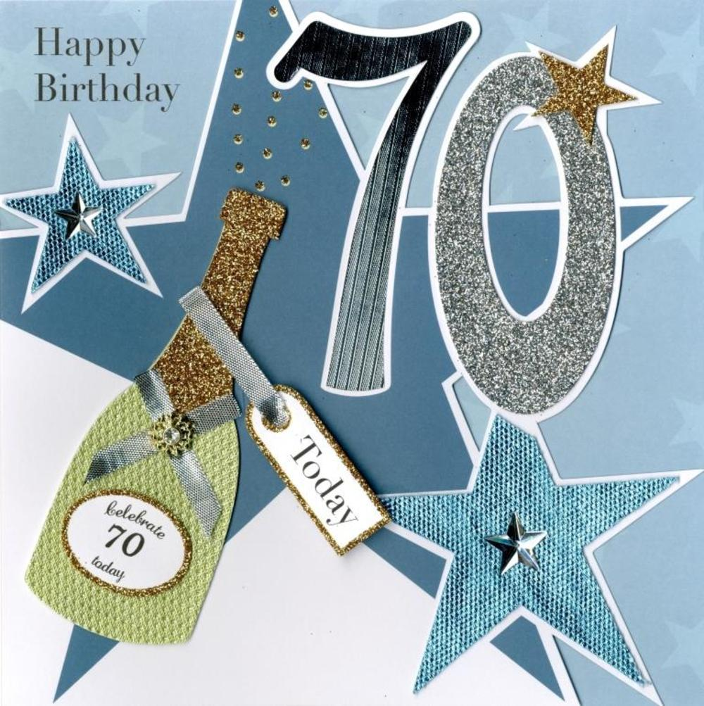 Second Nature 70th Birthday Keepsake Card