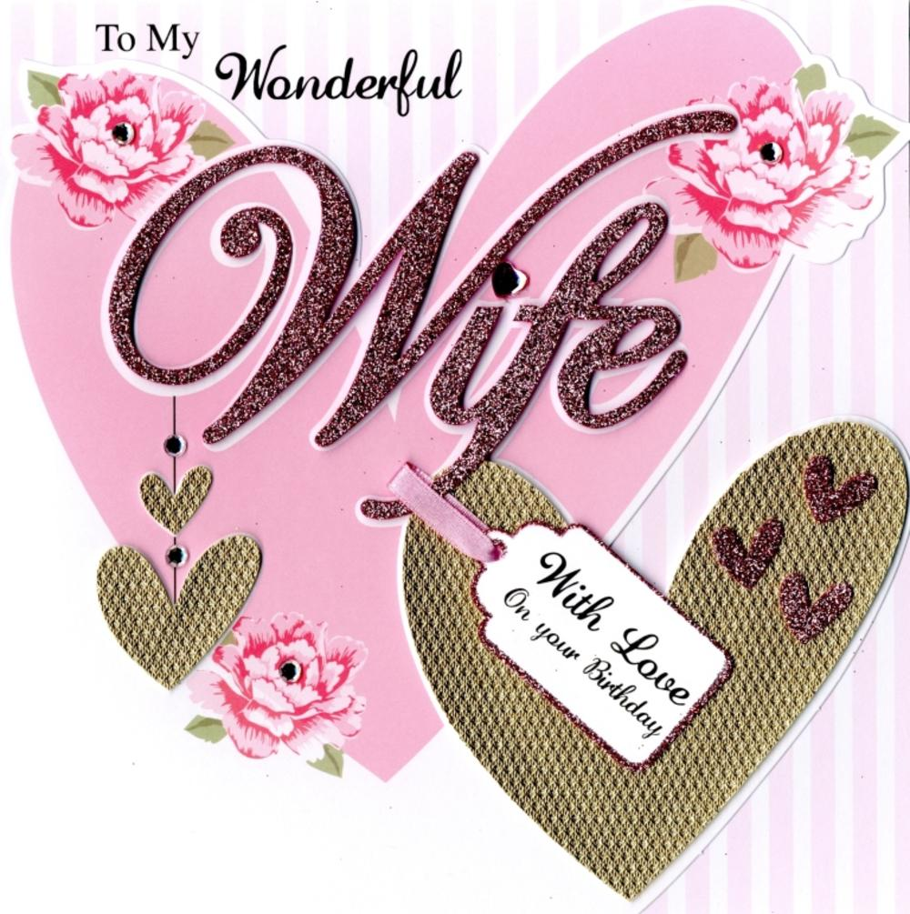 Second Nature Wife Birthday Keepsake Card