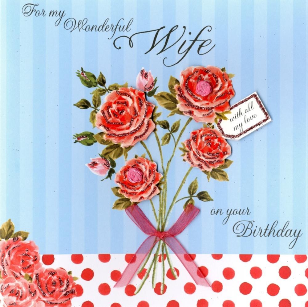 Second Nature Wife Birthday Keepsake Card