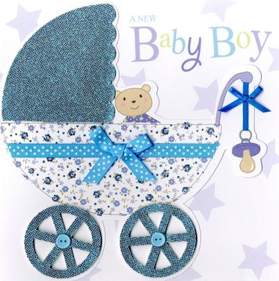 Second Nature New Baby Boy Keepsake Card