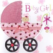 Second Nature New Baby Girl Keepsake Card