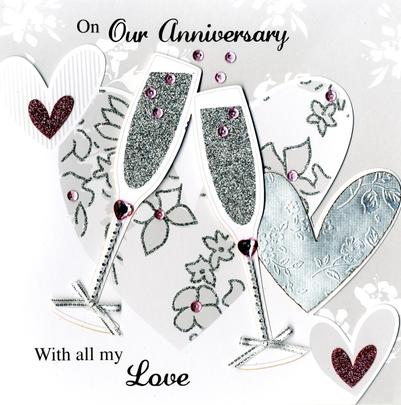 Second Nature On Our Anniversary Keepsake Card