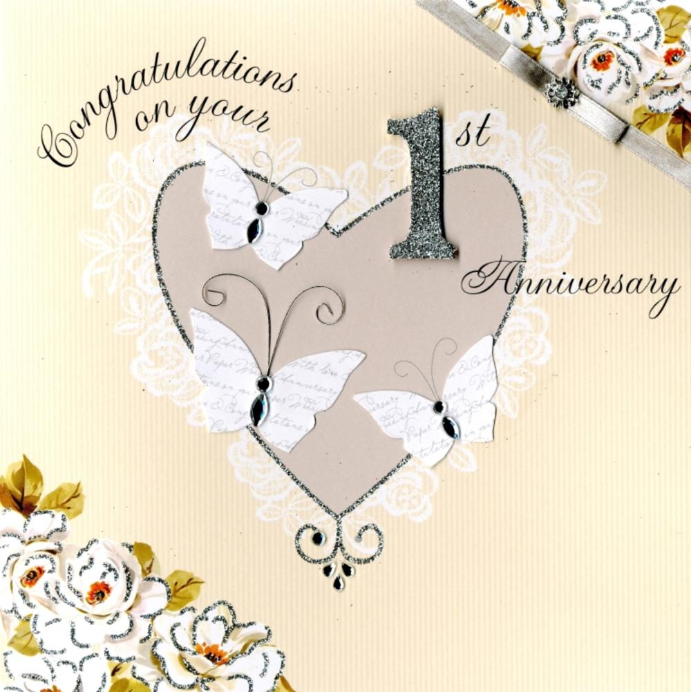Second Nature Your 1st Anniversary Keepsake Card