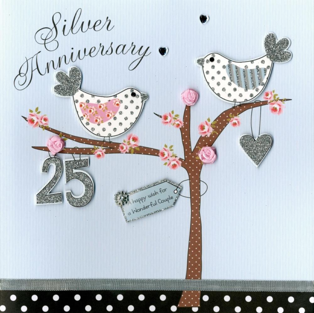 Second Nature Silver Anniversary Keepsake Card
