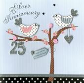 Second Nature Silver Anniversary Keepsake Card