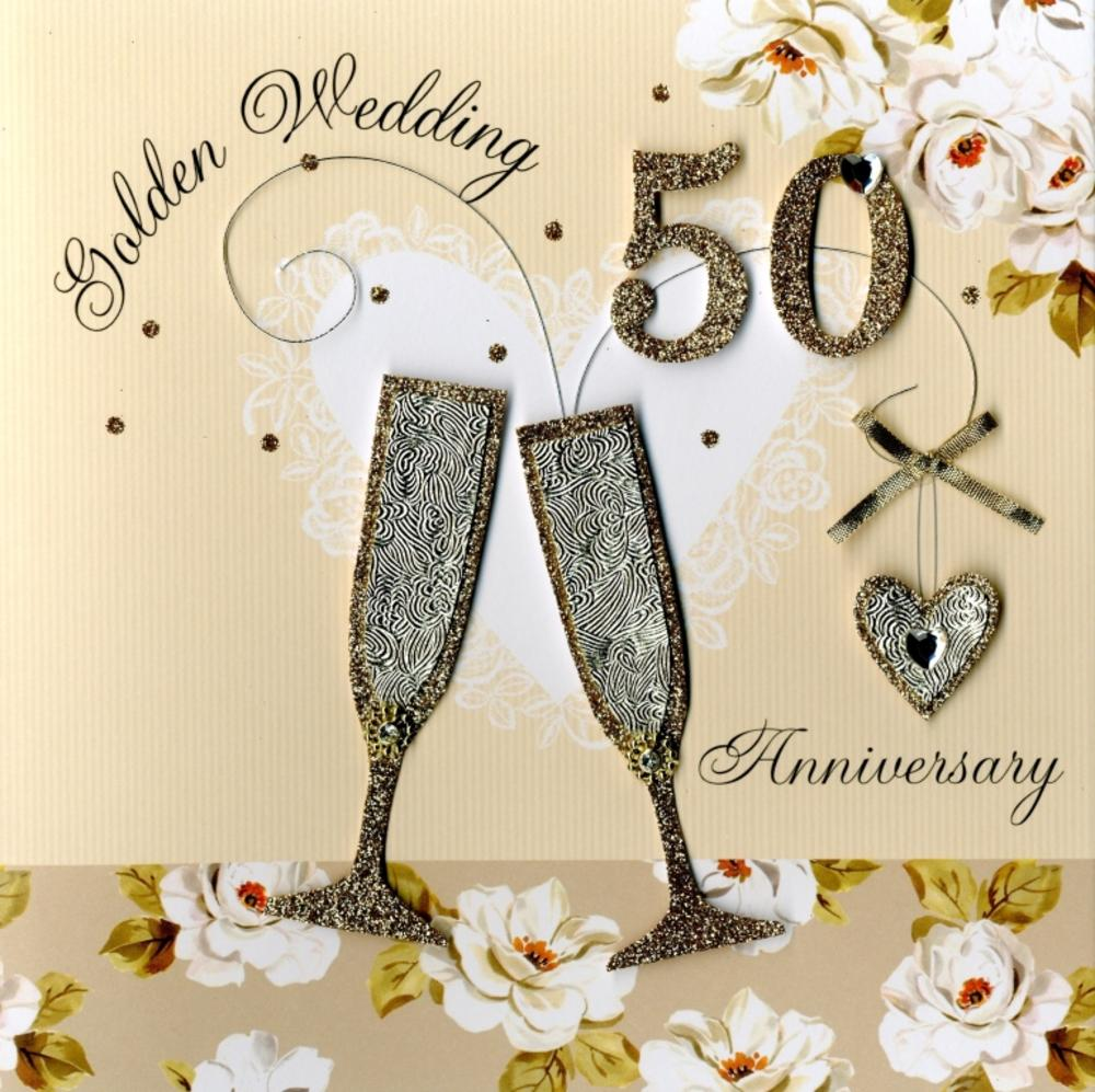 Second Nature Golden Anniversary Keepsake Card