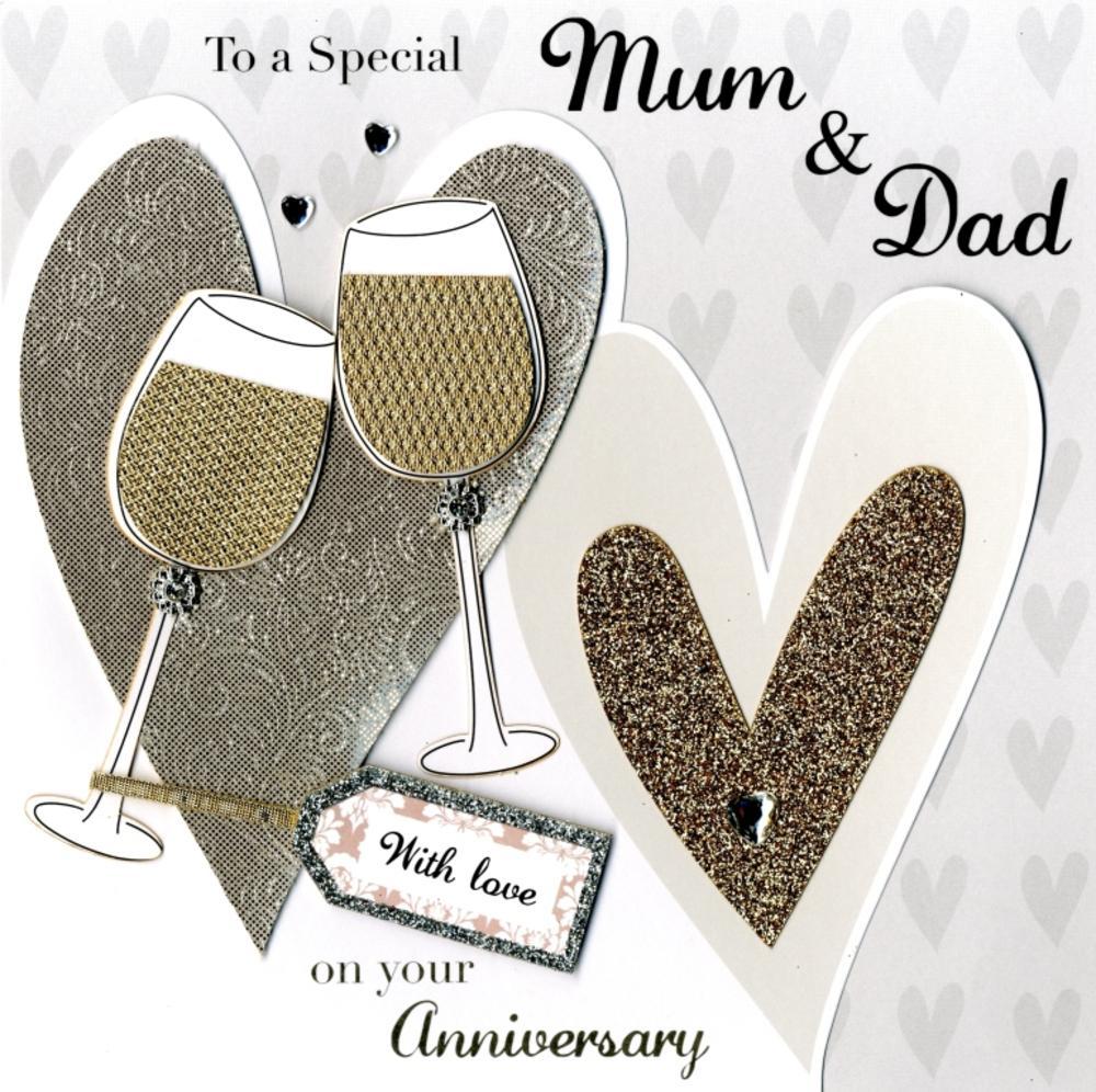 Second Nature Mum & Dad Anniversary Keepsake Card