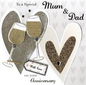 Second Nature Mum & Dad Anniversary Keepsake Card