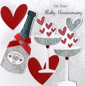 Second Nature Ruby Anniversary Keepsake Card