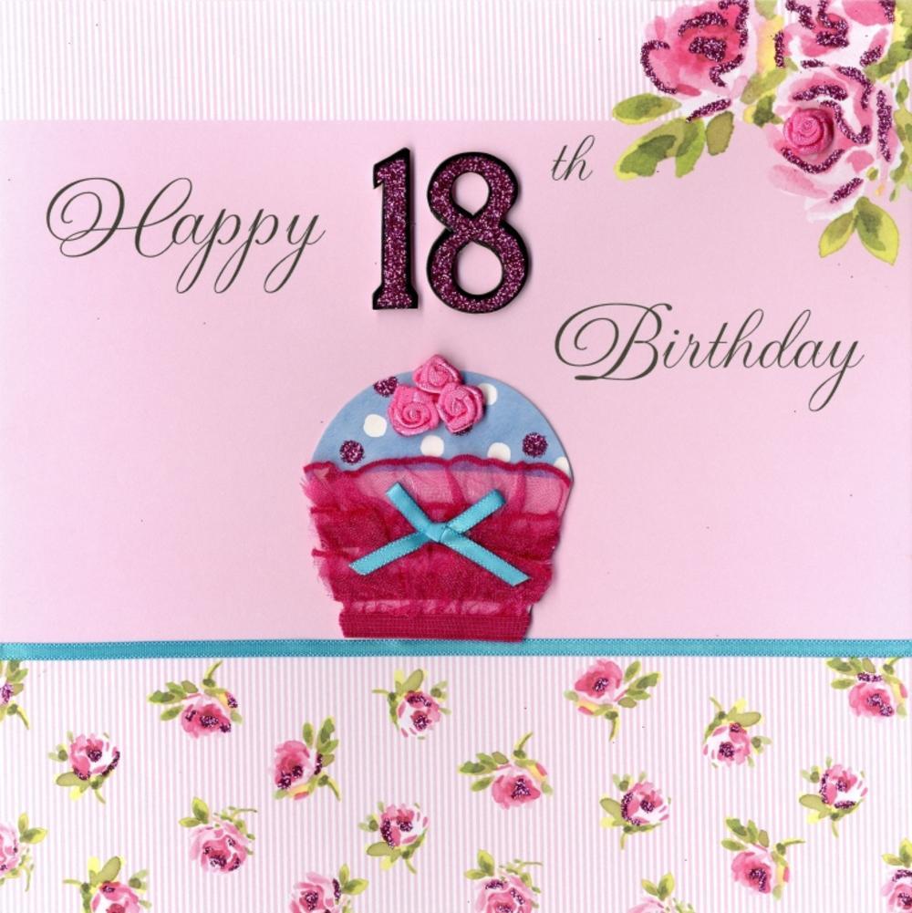 Second Nature Happy 18th Birthday Keepsake Card