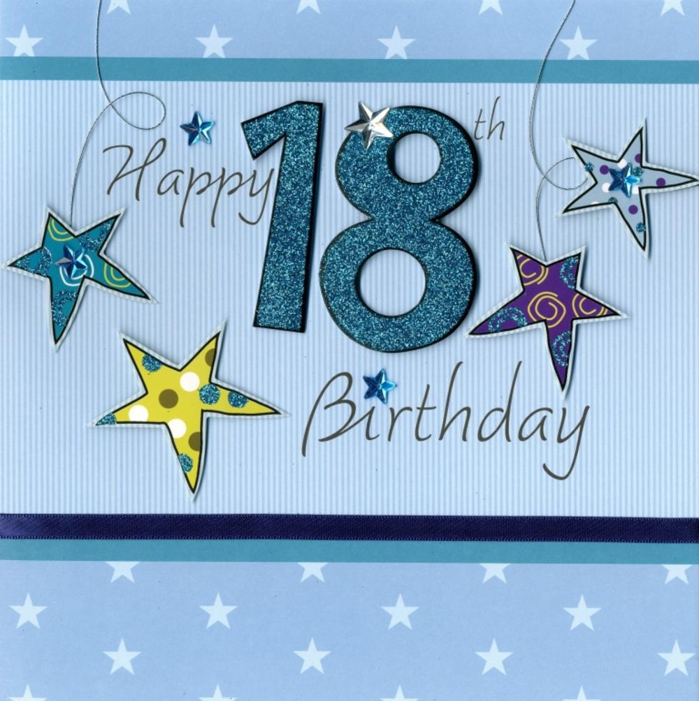 Second Nature Happy 18th Birthday Keepsake Card
